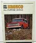 1966 Ford Truck Sales Brochure Dealer Bronco Sports Utility Wagon Roadster 66
