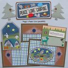 Premade Scrapbook Pages Mat Set PEACE LOVE CAMPING Sewn Album Layout pack890