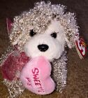 TY Beanie Baby Plush Snookums Sweetie Pie Curly Hair Dog NEW W/Hang