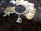 Celebrate Your 40 pound Weight Loss with 40 Charm for Weight Watchers Keychain