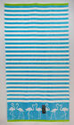 Aqua Blue Stripes spa pool beach towel green 36 X 68