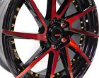 4 pcs 17 Black Red Honda Accord Civic Prelude S2000 Rims Wheels 5x1143 +40