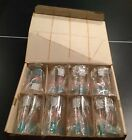 Vintage Hazel Ware Set Of 8 Glasses In Original Box, Pink, White And Turquoise