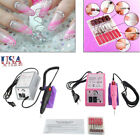 Electric Nail Drill Professional Manicure Pedicure File Acrylic Kit Bits GRAY