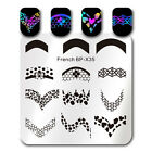 French Tip Manicure Nail Art Stamping Plate Nail Image Stamp Plate Decor BP X35