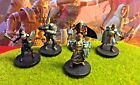 Heroic Adventuring Party LOT DD Miniature Dungeons Dragons pathfinder x5 minis