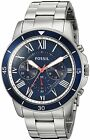 Fossil Men's FS5238 Grant Sport Chronograph Stainless Steel Blue Dial Watch