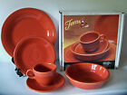 FIESTA New 5 Piece Place Setting PAPRIKA Retired Color NEW IN BOX 1st Quality