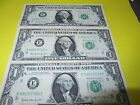 3 $1 BARR NOTES CONSECUTIVE NUMBERS - RARE