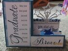 Handmade Graduation Card in blue and silver using Stampin Up products