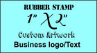 Custom Rubber Stamp 1 X 2 inch tag size made to order from text business logo