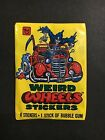 WEIRD WHEELS TRADING CARD PACK OF STICKERS