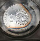 2010 Canada Olympic Silver Maple Leaf!! MS 70!!! One of a kind Toning!!