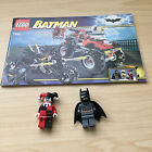 Lego Batman Complete Set The Batcycle and Harley Quinns Hammer Truck 7886