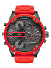 Diesel Original DZ7370 Mr Daddy 2.0 Red Strap Chronograph Watch 57mm In Box