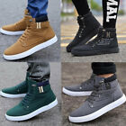 Mens High Top Shoes Leather Shoes Casual Shoes Canvas Athletic Running Sneakers