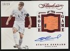 2016 Panini Flawless Steven Gerrard Sole of the Game Cleats Patch Auto 13 15
