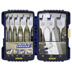 S#Irwin 8 Blue Groove 4X Flat Bits Set 10506629 Sharp Cutting Edge Durable Case
