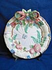Fitz & Floyd Classic Woodland Spring Plate with Bow, Flowers, Ferns & Butterfly