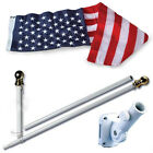 American Home Nylon 3 by 5 Feet US Flag Set with 6 Feet Spinning Flag Pole