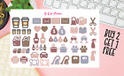 Hello Fall Set Planner stickers Functional Icons Happy Erin Condren stickers