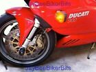 DUCATI 900SS 916 996 996R CRASH MUSHROOMS FRONT AXLE SLIDERS BUNGS BOBBINS S2C