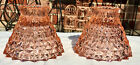 Bows Pair Pink Candlesticks Candle Holders Lot/2