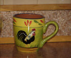 Baum Brothers PROVENCE ROOSTER COLLECTION Mug Handled Folk Art Roosters 4.25