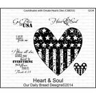 Heart  Soul Cling Stamp Collection Our Daily Bread NEW usa patriot flag america