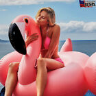 150cm Inflatable Giant Flamingo Pool Tube Beach Lounger Float Swimming Water Toy