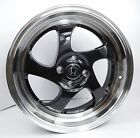 17 Honda Civic Accord Prelude Insight Acura Integra Black Wheels Rims 4x100 +40