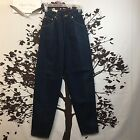 Lee Womens VTG Dark Wash Tapered Leg High Waist Pleated Mom Jeans Size 3 NWT