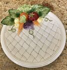 Great Fitz and Floyd Vegetable Garden Weave Serving Plate Wall Hanging ~ 1995