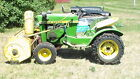 John Deere 1966 Garden Tractor Model 110 with snow blower and mower deck