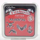 Tattoo Mini Foam Mounted Rubber Stamp Collection Colorbox NEW heart skull flame
