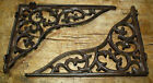 2 Cast Iron Antique Style HEAVY DUTY VINE Brackets Garden Braces Shelf Bracket