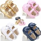0 18M Infant Baby Girl Soft Sole Leather Crib Shoes Anti slip Sneaker Prewalker