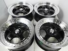 17 Honda Accord Prelude S2000 Civic Si Mustang Black Rims Wheels 5x1143 +35
