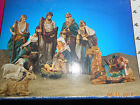 10 piece ceramic Nativity set 8910 higLarge 10 Piece Nativity Set New In Box