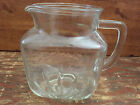 1950s vintage GLASS carved starburst cut PITCHER CUP star on bottom Federal?