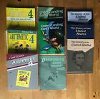 Abeka 4th Grade Math Science and History Curriculum lot 9 Books