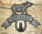 Cast Iron BEAR WELCOME Towel Coat Hooks Hat Hook Key Rack CABIN Hunting Camp