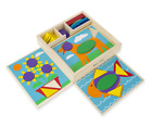 Melissa  Doug Beginner Wooden Pattern Blocks Educational Toy With 5 Double Side