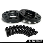 4Pcs 15mm for BMW New 7 series Black Anodized Wheel spacers 14x1.25 12X1.5 bolts