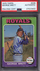 1975 Topps #228 George Brett Rookie HOF Signed Auto Autographed Royals PSA DNA