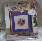BUCILLA SILK RIBBON EMBROIDERY KIT FLOWERS OF THE MONTH FEBRUARY NIP 1994