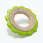 BeginAgain Green Ring Teether Made in the USA Washable Natural Eco Friendly