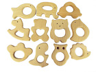Bettewoo Nature Baby Teething Pendant Toy 11pcs Eco friendly Organic Wood Teethi