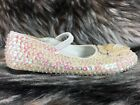 CIRCO MARY JANES FLATS SEQUIN EMBELLISHED WHITE FANCY SZ 13 PARTY