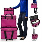 3 Piece Set Sewing Machine Cover Tote Trolley Roller Bag With Wheels 19